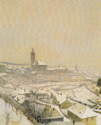 Kutná Hora v zimě, 1942